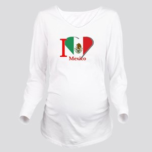 I love Mexico Long Sleeve Maternity T-Shirt