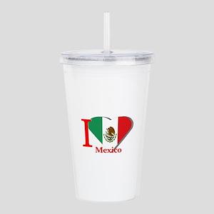 I love Mexico Acrylic Double-wall Tumbler