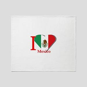 I love Mexico Throw Blanket