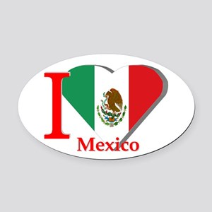 I love Mexico Oval Car Magnet