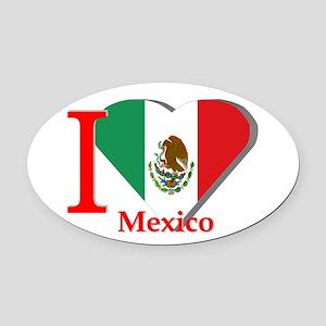 I love Mexico Oval Car Magnet