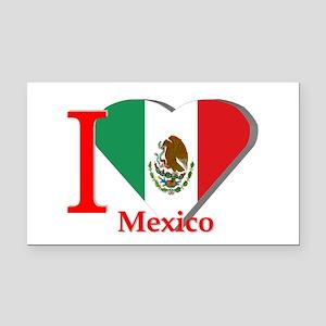 I love Mexico Rectangle Car Magnet