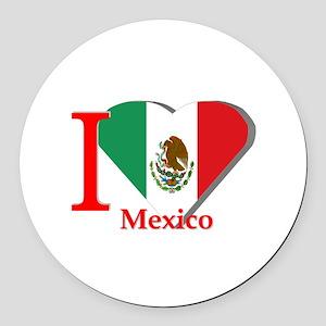 I love Mexico Round Car Magnet