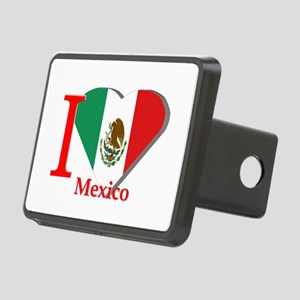 I love Mexico Rectangular Hitch Cover