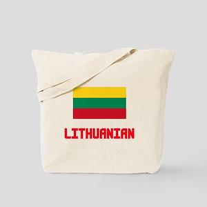 Lithuanian Flag Design Tote Bag