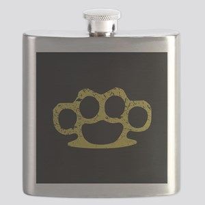 Brass Knuckles Flask