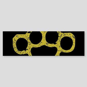 Brass Knuckles Bumper Sticker