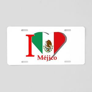 I love Mexico Aluminum License Plate
