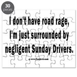 Sunday Drivers worse than Road Rage Puzzle