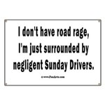 Sunday Drivers worse than Road Rage Banner