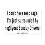 Sunday Drivers worse than Roa Rectangle Car Magnet