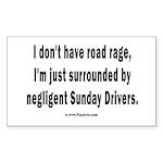 Sunday Drivers worse tha Sticker (Rectangle 50 pk)