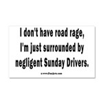 Sunday Drivers worse than Road Car Magnet 20 x 12