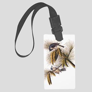 Audubon Crested Titmouse Large Luggage Tag