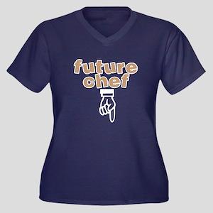 Future chef Women's Plus Size V-Neck Dark T-Shirt