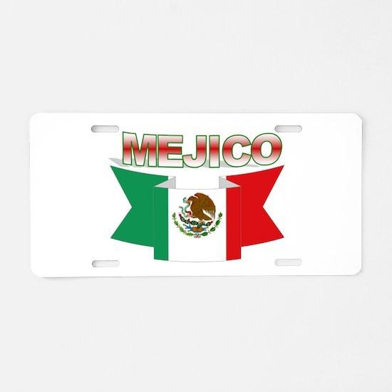 Mejico ribbon Aluminum License Plate