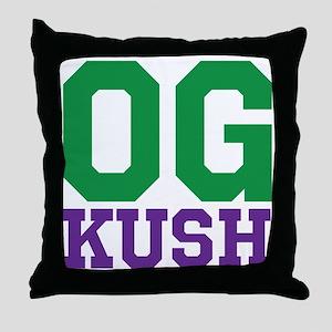 OG KUSH Throw Pillow