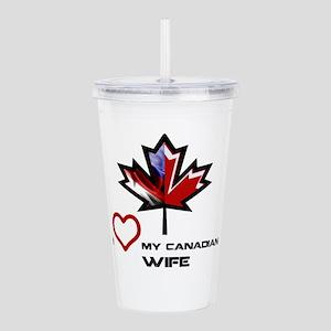 America - Canada Wife Acrylic Double-wall Tumb