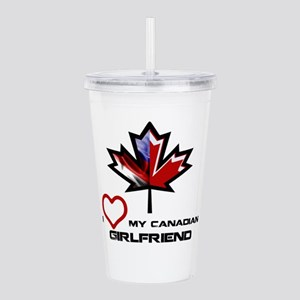 America - Canada Girlfriend Acrylic Double-wal