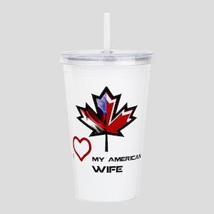Canada-America Wife Acrylic Double-wall Tumble