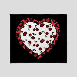 Rockabilly Valentine Throw Blanket
