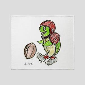Football Turtle Throw Blanket