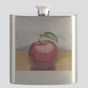 Apple painting Flask