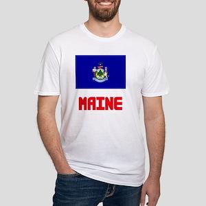 Maine Flag Design T-Shirt