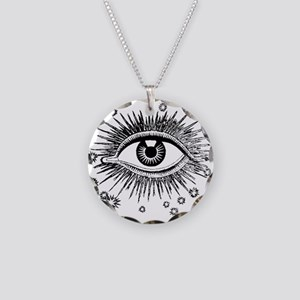 Eye Eyeball Necklace Circle Charm