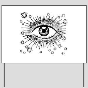 Eye Eyeball Yard Sign