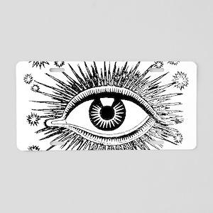 Eye Eyeball Aluminum License Plate