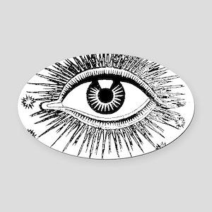 Eye Eyeball Oval Car Magnet