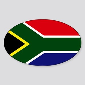 South African flag Sticker (Oval)