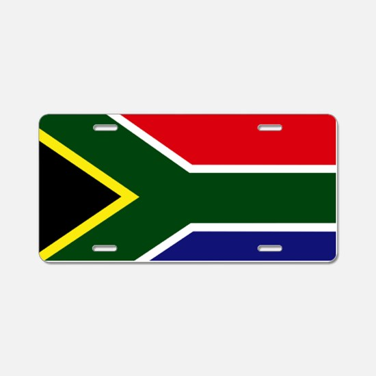 South African flag Aluminum License Plate