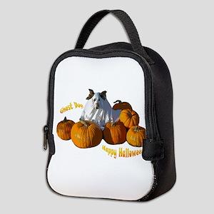 Halloween Ghost Dog Neoprene Lunch Bag