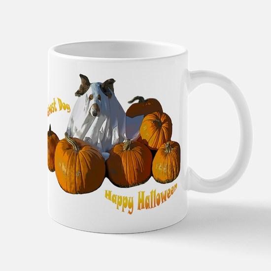 Halloween Ghost Dog Mug