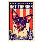 Obey the Rat Terrier! USA Large Poster