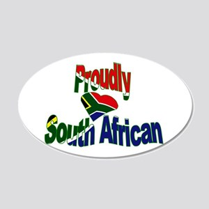 Proudly South African 20x12 Oval Wall Decal