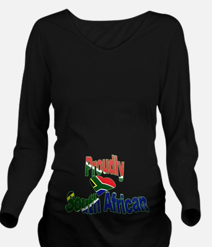 Proudly South Africa Long Sleeve Maternity T-Shirt