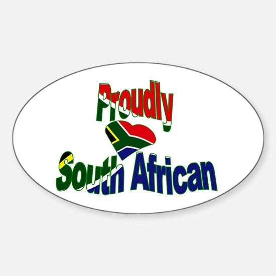 Proudly South African Sticker (Oval)