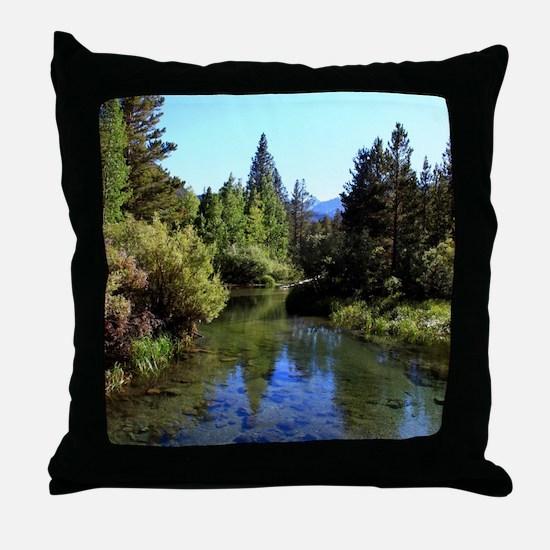 Mountain Reflections Throw Pillow