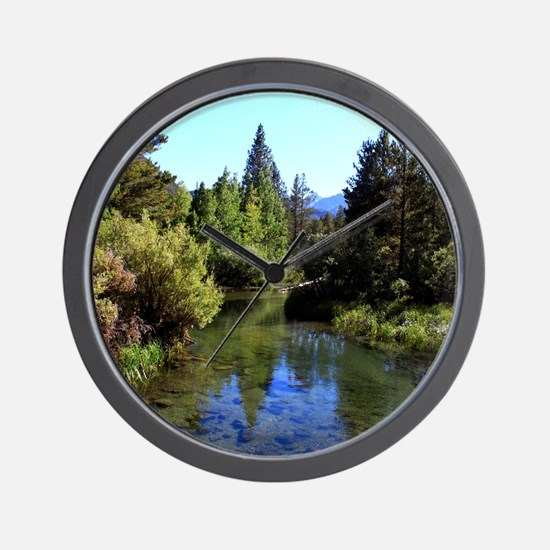 Mountain Reflections Wall Clock