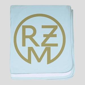 RZM Fahrzeug green baby blanket