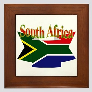 South African ribbon Framed Tile