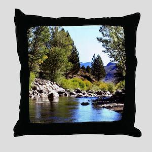 Mountain Stream 2 Throw Pillow