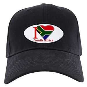 South Africa Cricket Black Cap With Patch - CafePress e9471a759