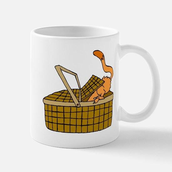 Cat In Picnic Basket Mugs