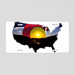 Colorado States of Mind Aluminum License Plate