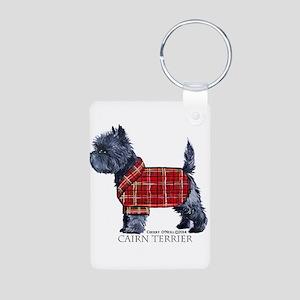 Cairn Terrier Holiday Aluminum Photo Keychain
