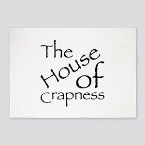 The House of Crapness Classic Logo 5'x7'Area Rug